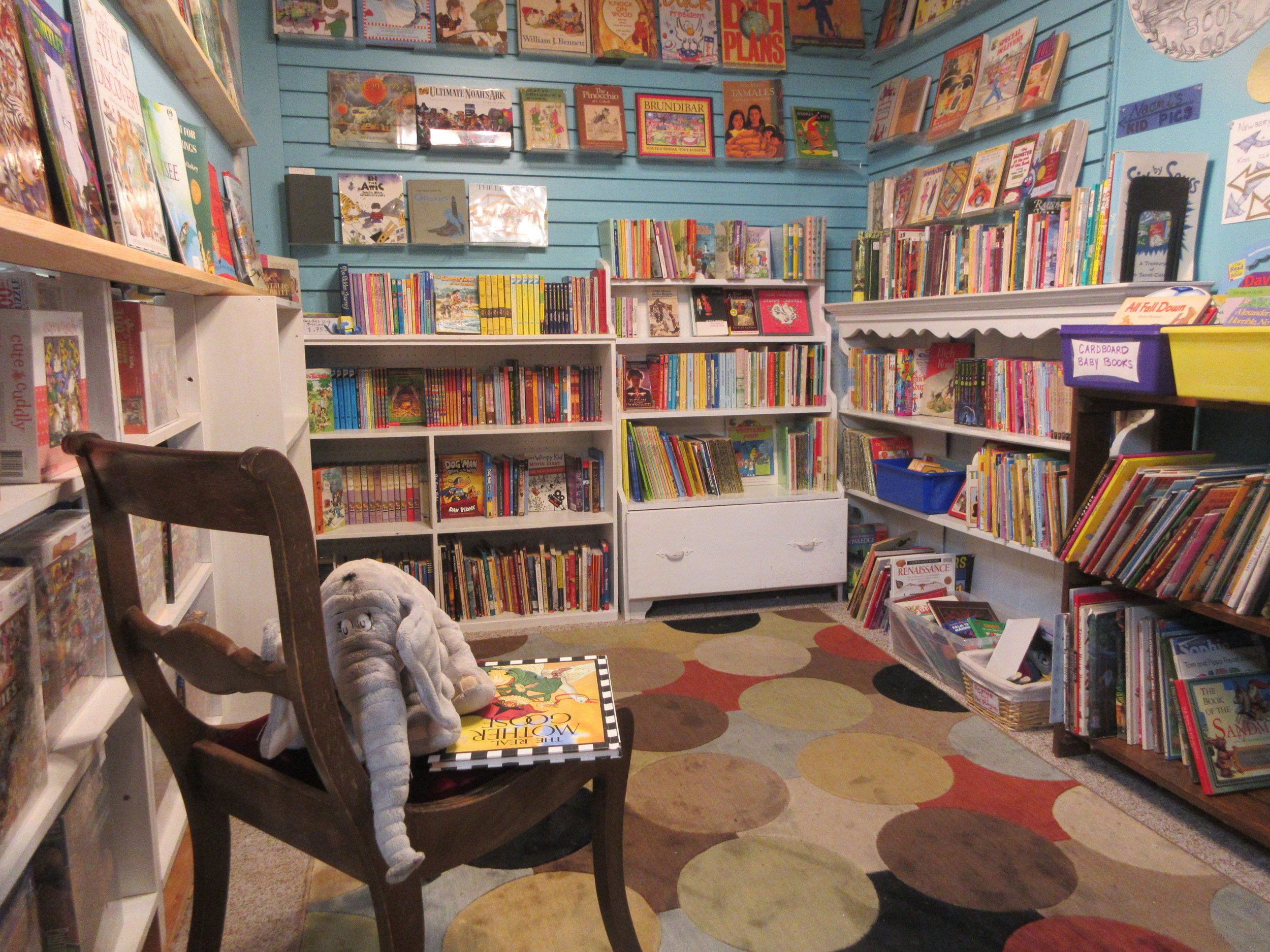 Kids' Corner - Baby books, picture books, early readers, and chapter books.All children's books are individually priced.