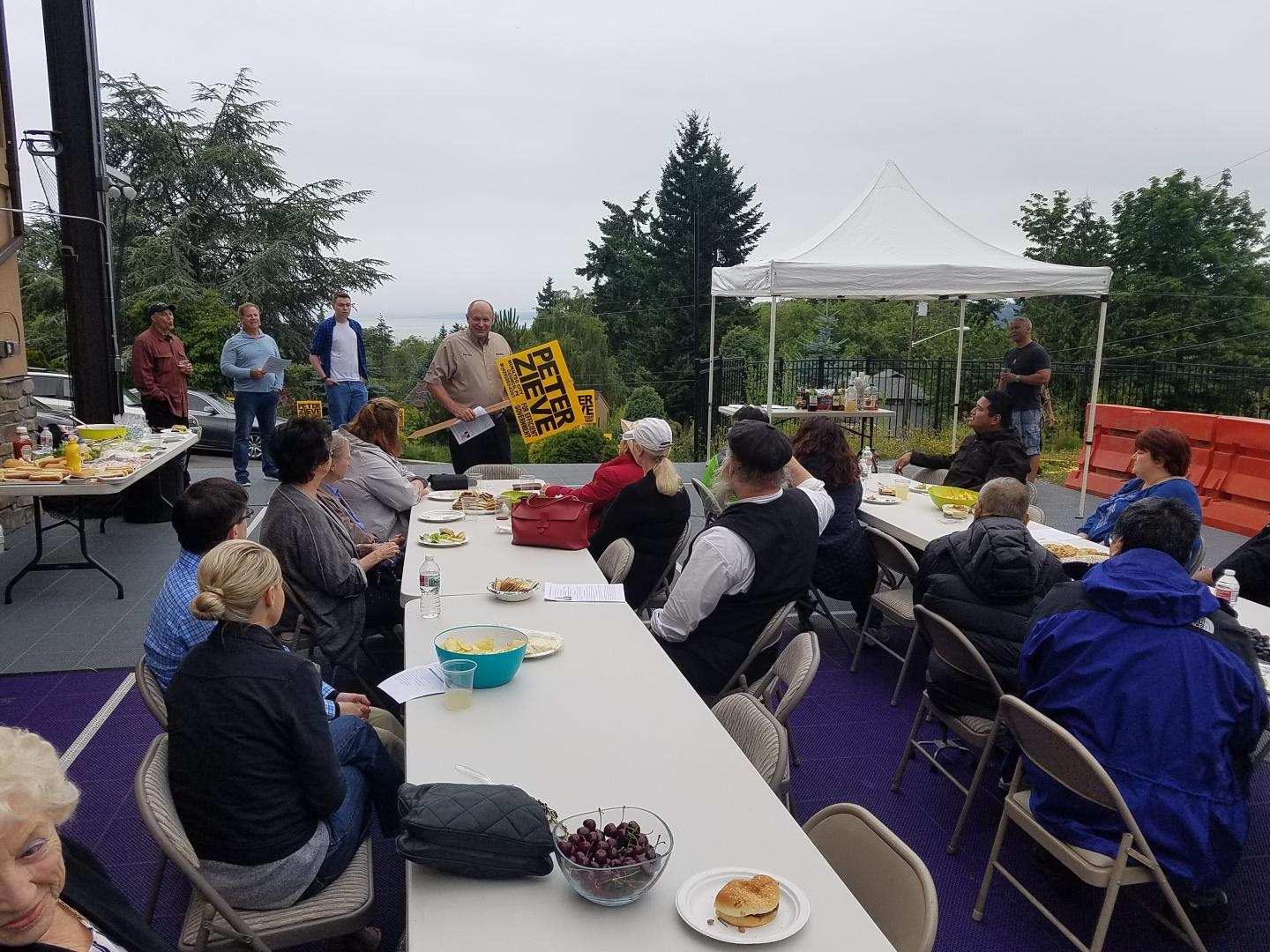Kickoff barbecue at my house June 23, 2019.  I want to get to know every resident of Mukilteo.