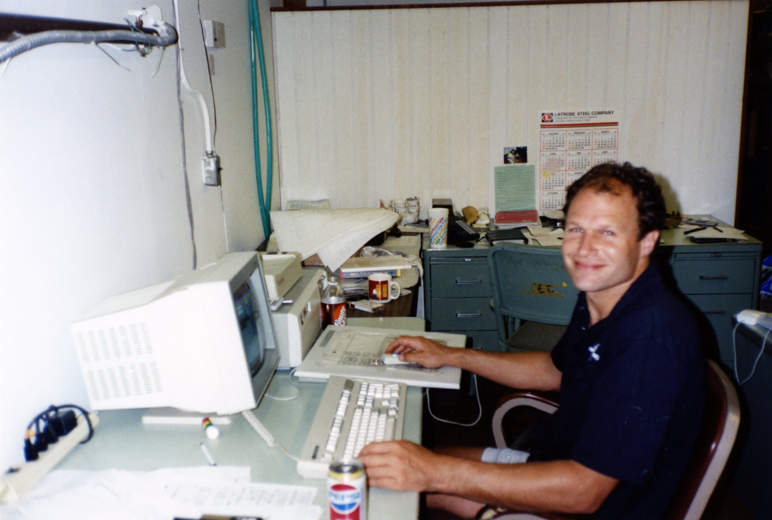 """Compucave in the """"garage"""", early use of Autocad"""