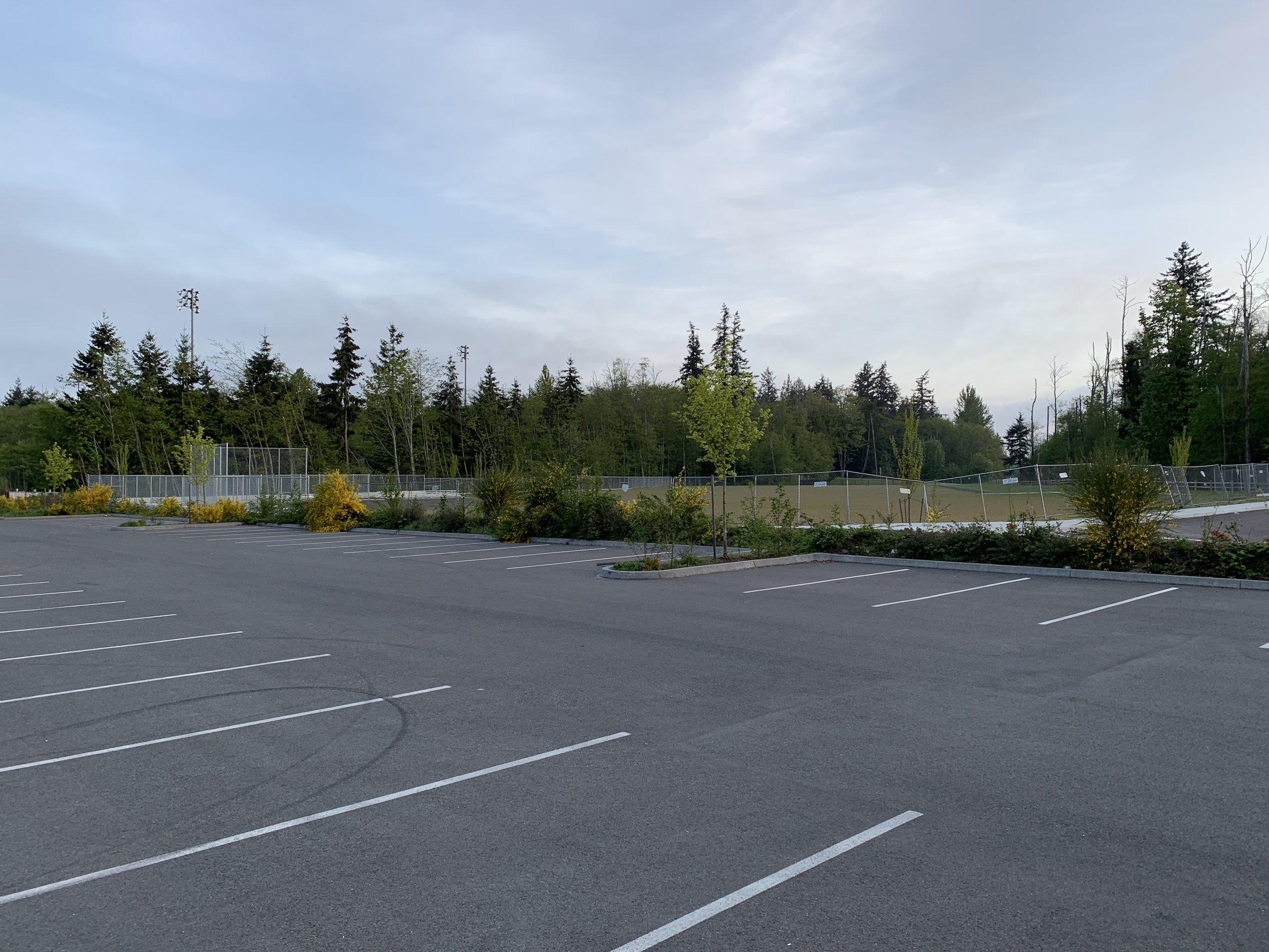 Parking lot we signed over
