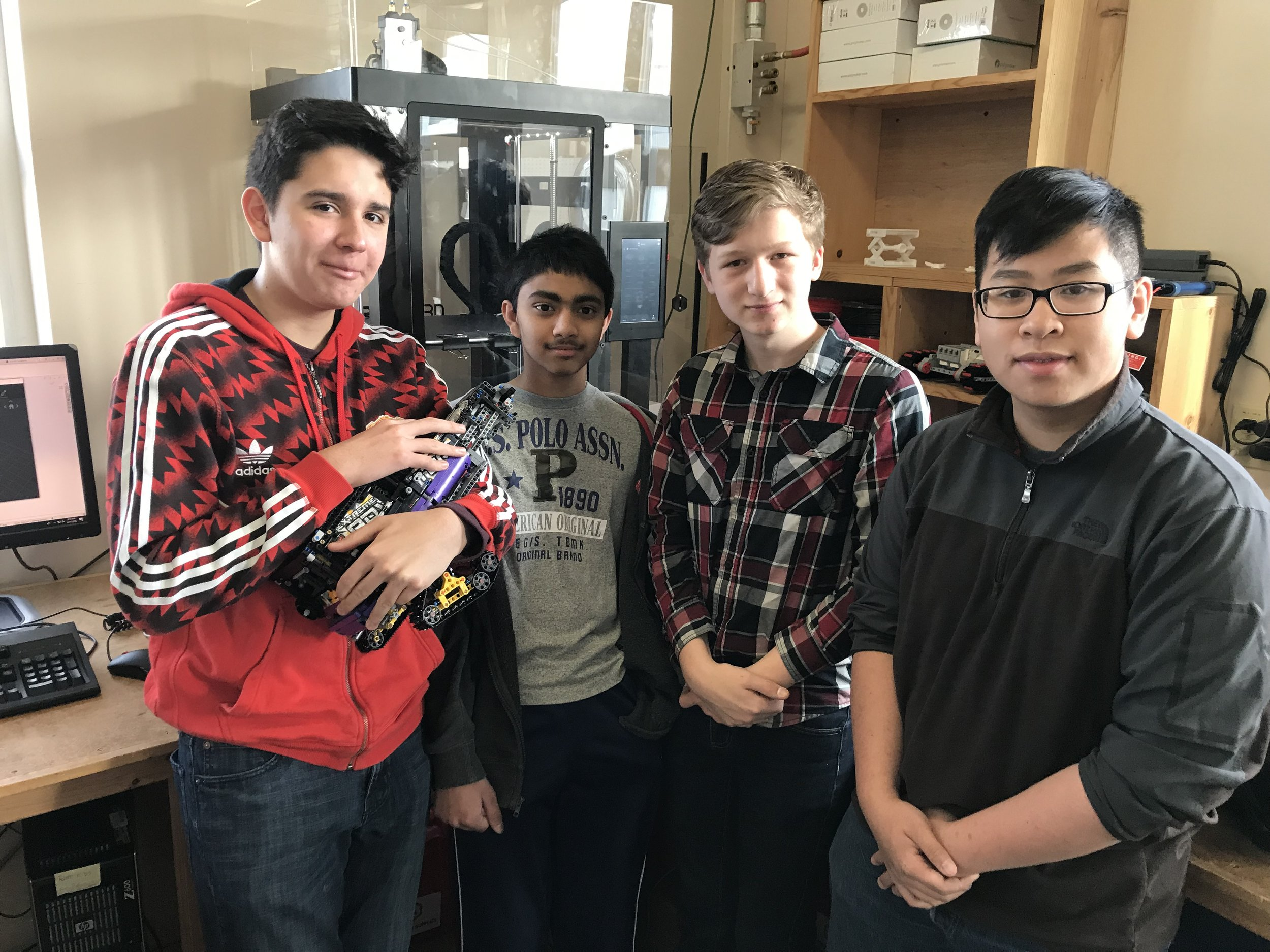 Trainers from the Kamiak robotics club.