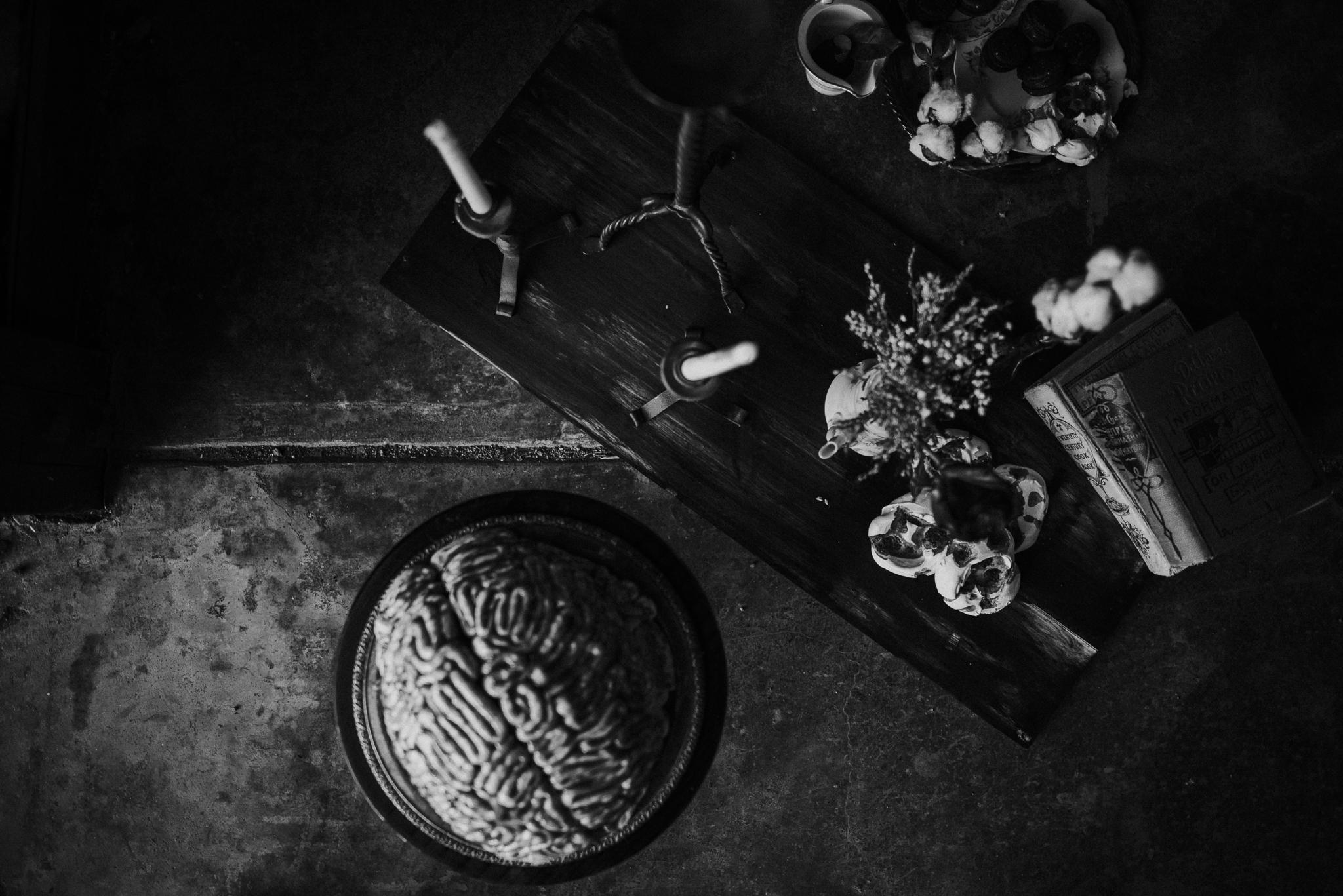 American Horror Story Decor + Brain Cake
