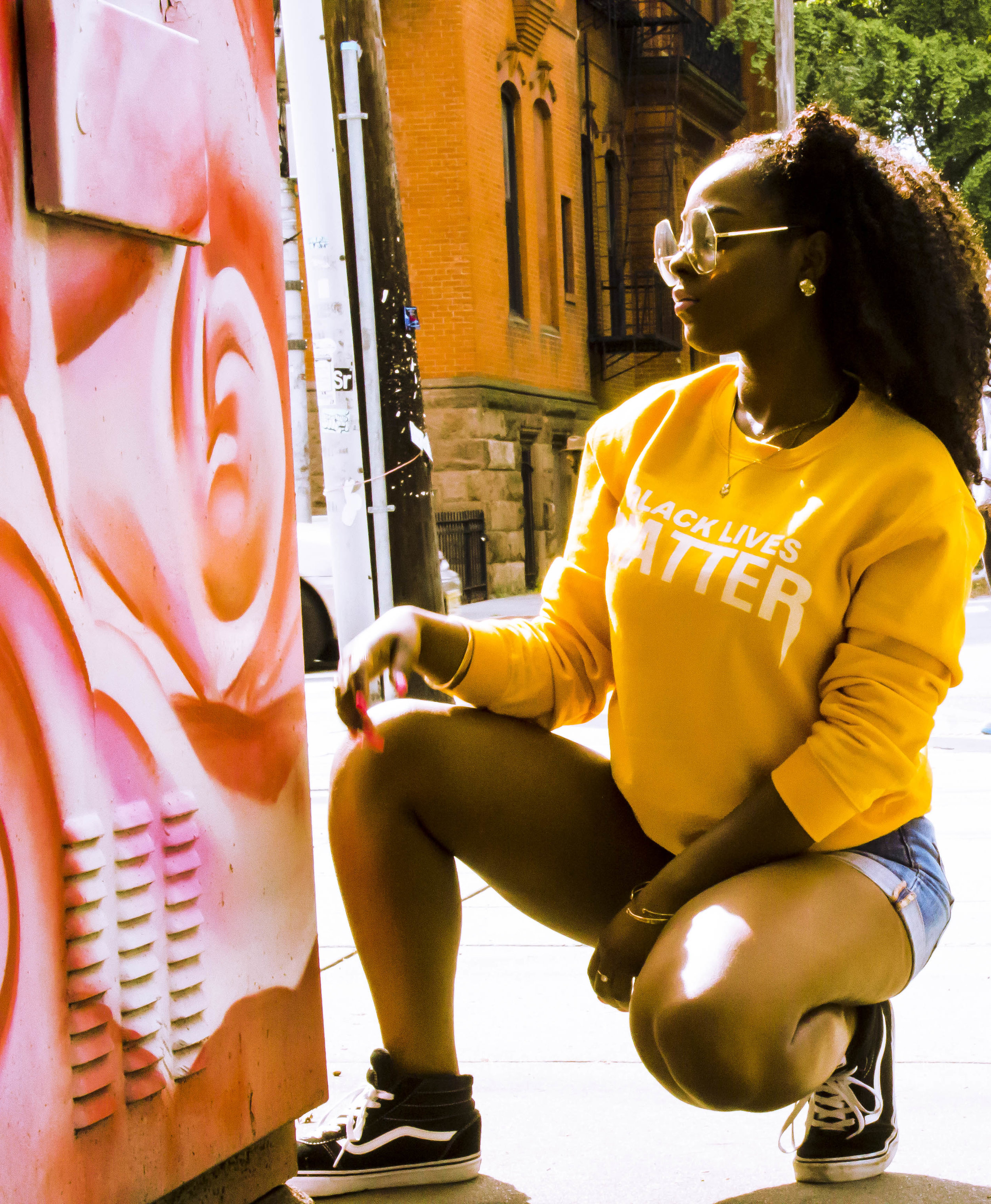 Captured in Jersey City, NJ - Shot by  Aaron Culmer  | Sweatshirt by  Black After Party