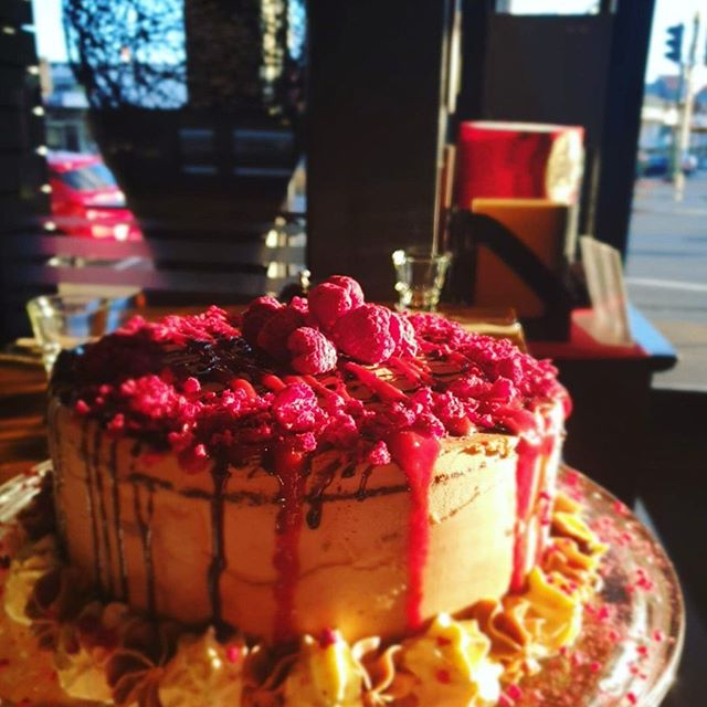 Feel like something sweet? Why not come in and have a slice of this beautiful Chocolate, Nutella & Raspberry cake! 🍰🍰🍰