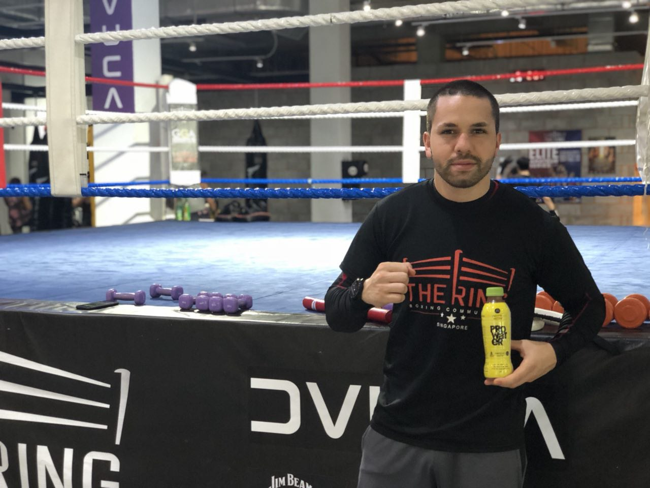 """Abdelelah or """"Abdou"""", coach of  The Ring  and Professional Fighter.  Image Credit: The Ring"""