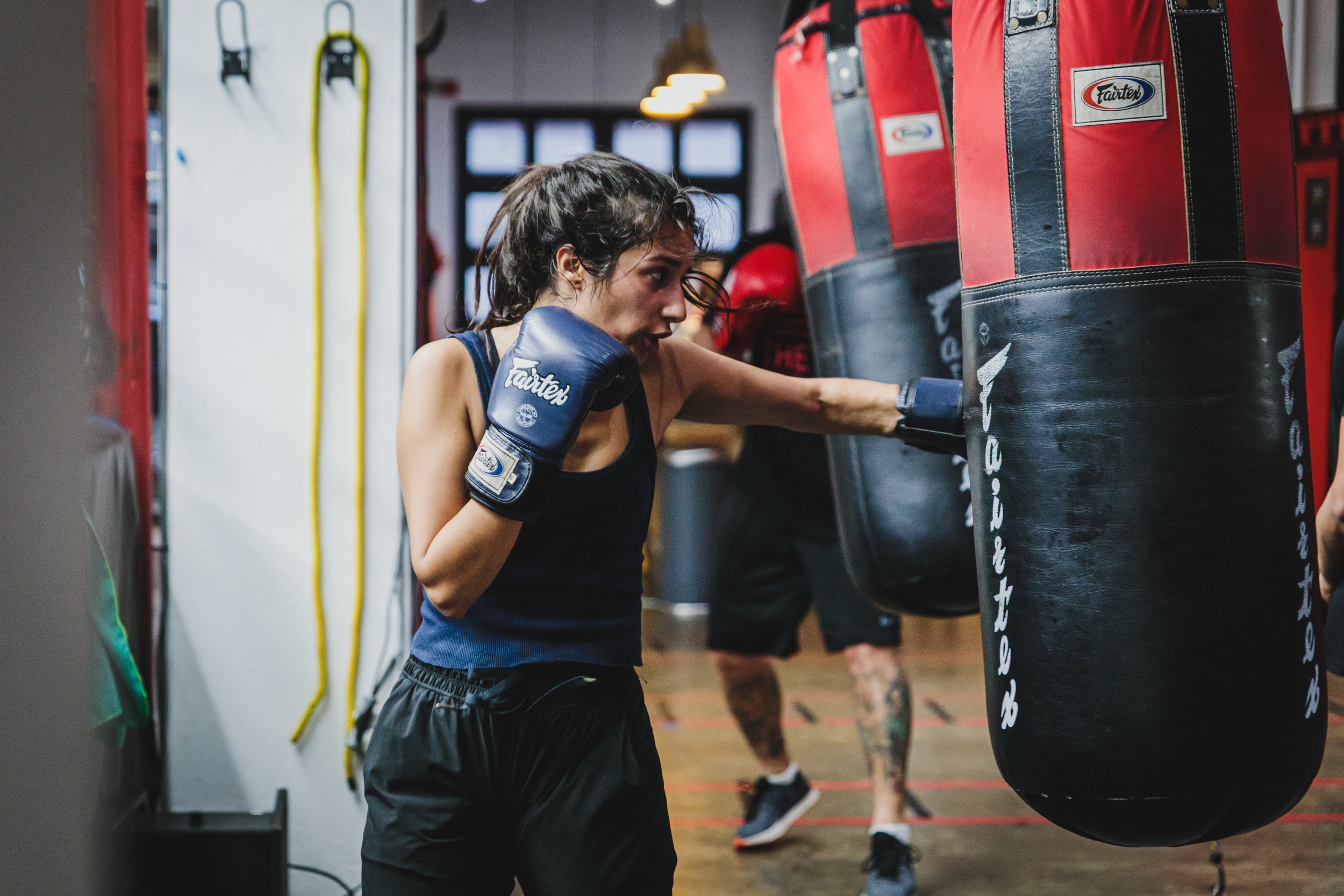 Boxing! - This class is perfect for those who enjoy working out in a fast-paced concept and want a combination of a cardio and technical boxing class. Expect to burn an average of 800 calories in our high intensity true technique boxing classes!