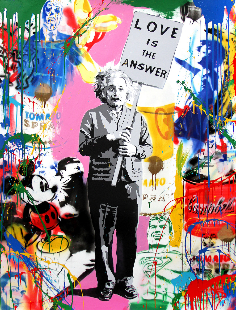 "Mr. Brainwash, ""Einstein"", 2016"