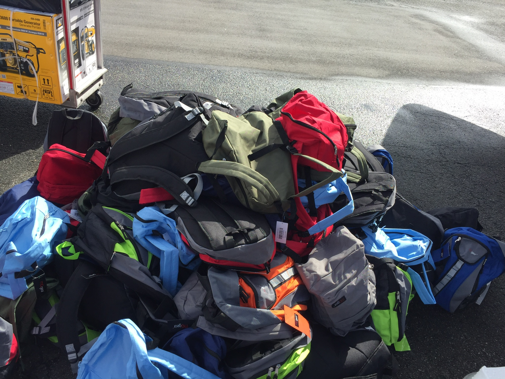 Backpacks Distributed with Water Filters