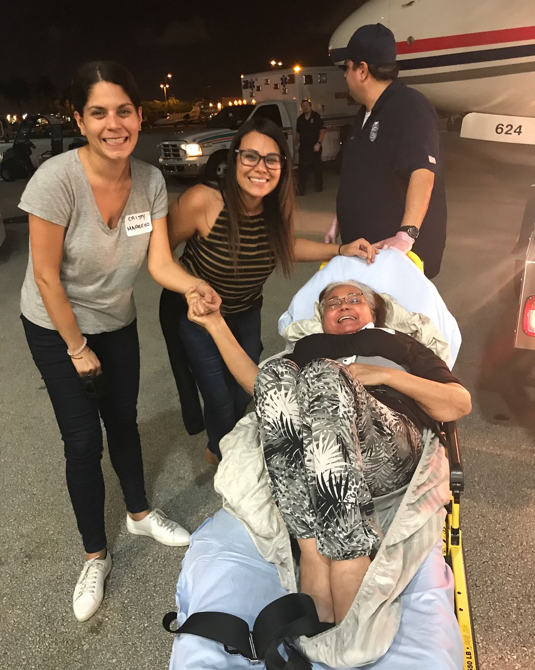 Lilly Rodriguez and Yendis Serrano Arriving in Miami