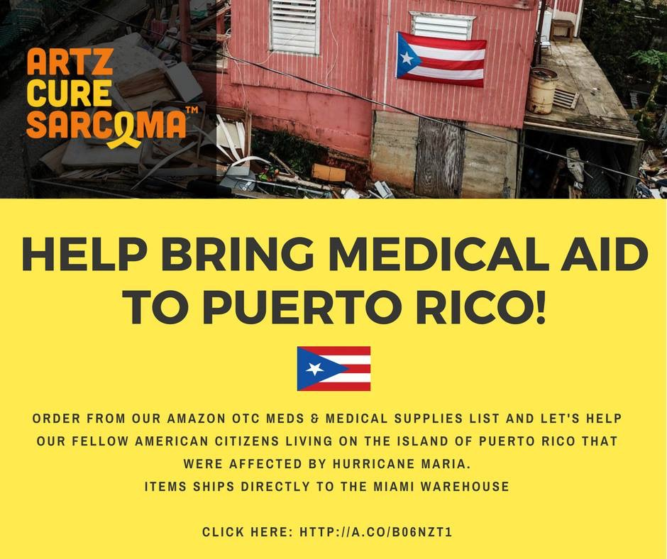 Artz Cure Sarcoma Hurricane Efforts