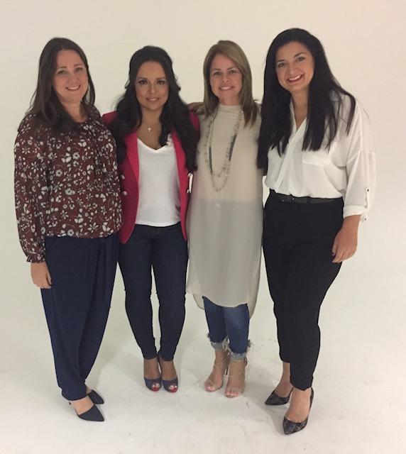 From left to right- Elisa Hernández, Zulema Arroyo Farley, Deborah Rodriguez and Isabel Fernandez, Artz Cure Sarcoma™ Foundation Puerto Rico Relief Effort volunteers on the ground.