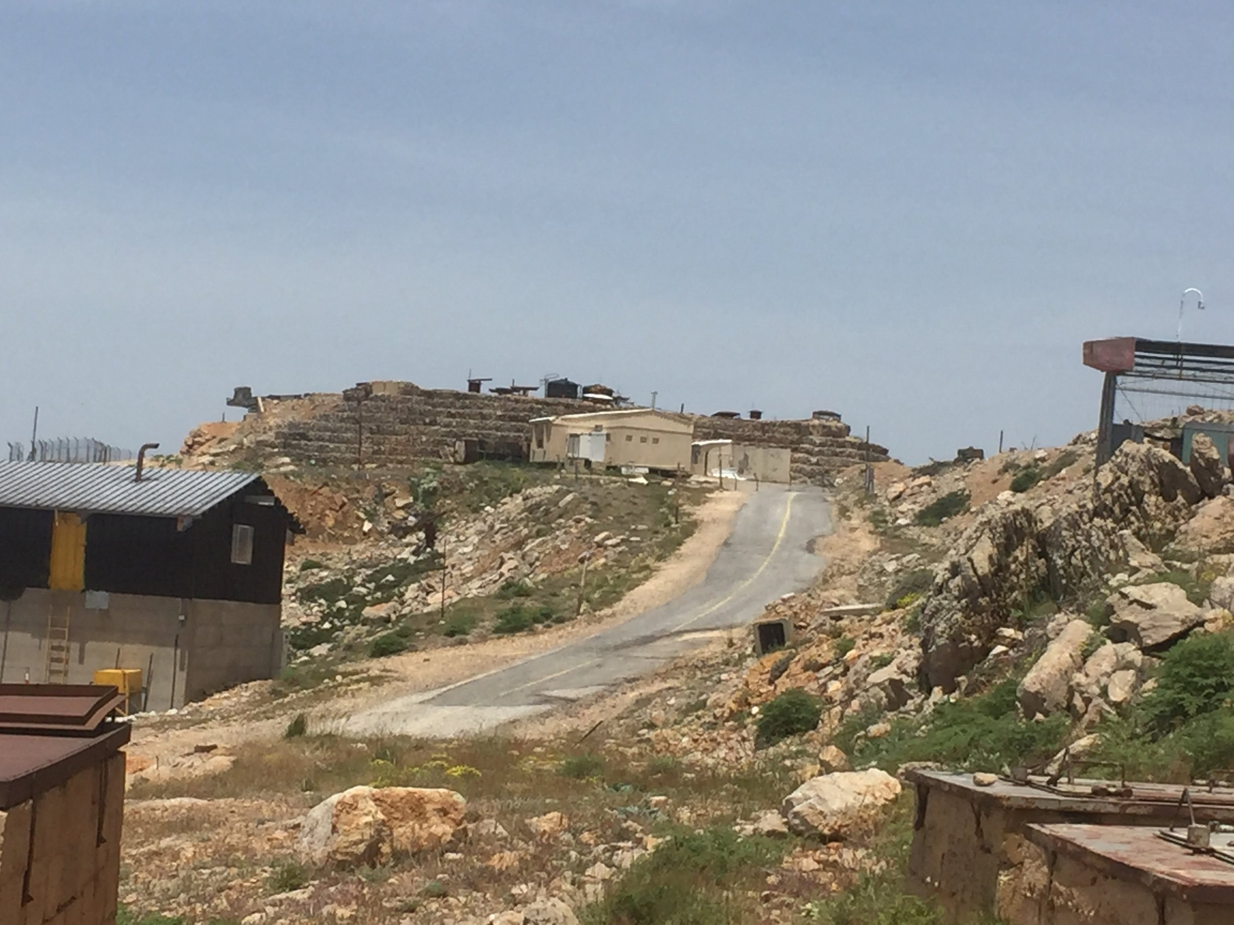 Military outpost on the peak of Mt. Hermon