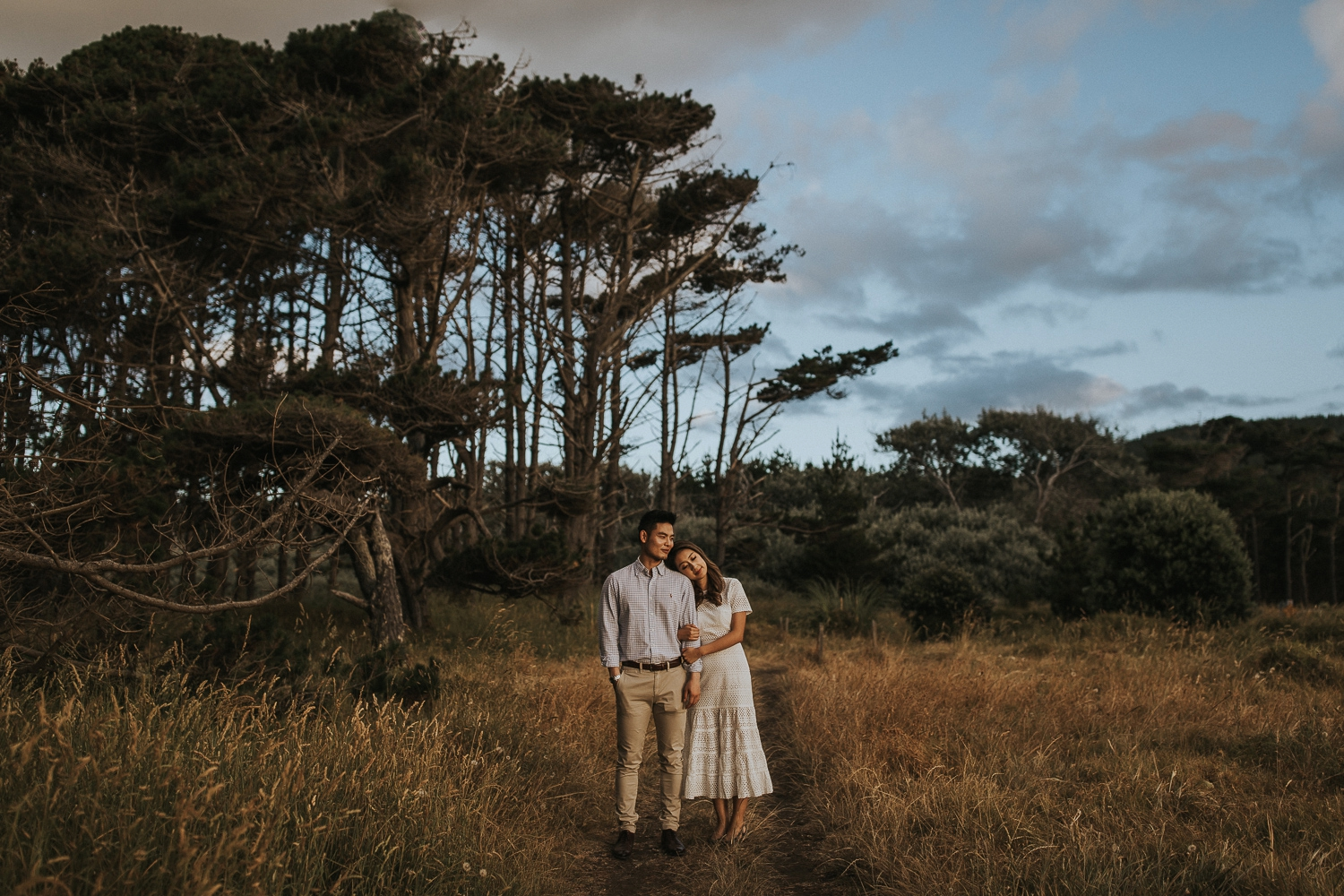 muriwai forest engagement shoot