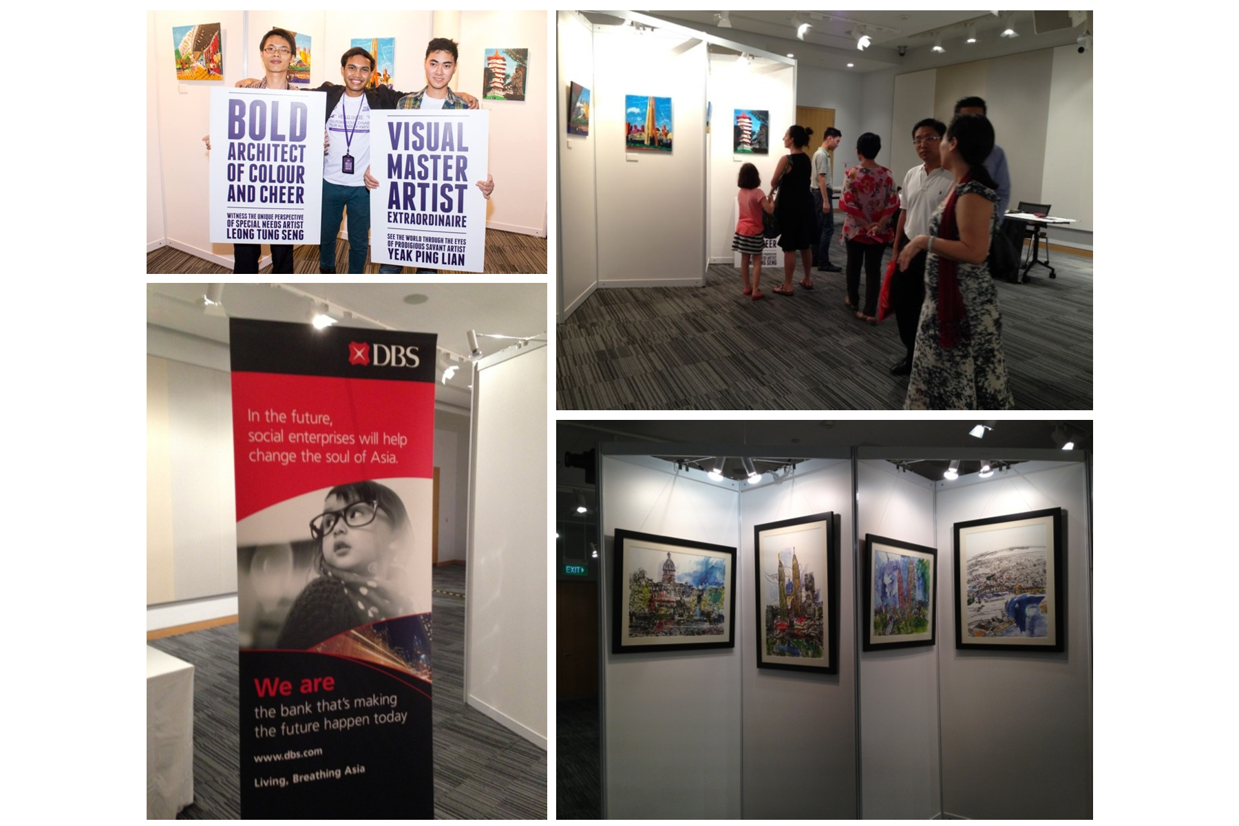 TER@Corporate Event - We hosted an art exhibition event @ DBS to showcase the original works of our artists , featuring Yeak Ping Lian ,a prodigious savant artist