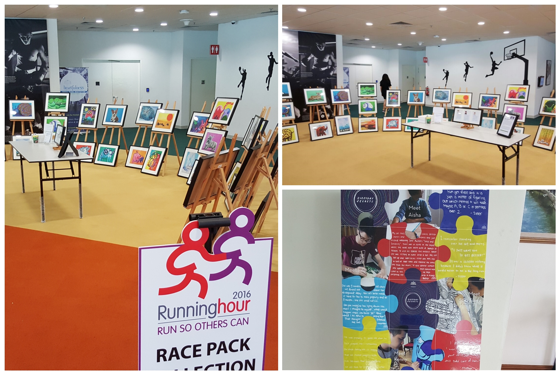 TER @ event with RunningHour - We joined our partner Running Hour in their uniquely Empathy Run alongside the special needs.Here we showcased their talents / works