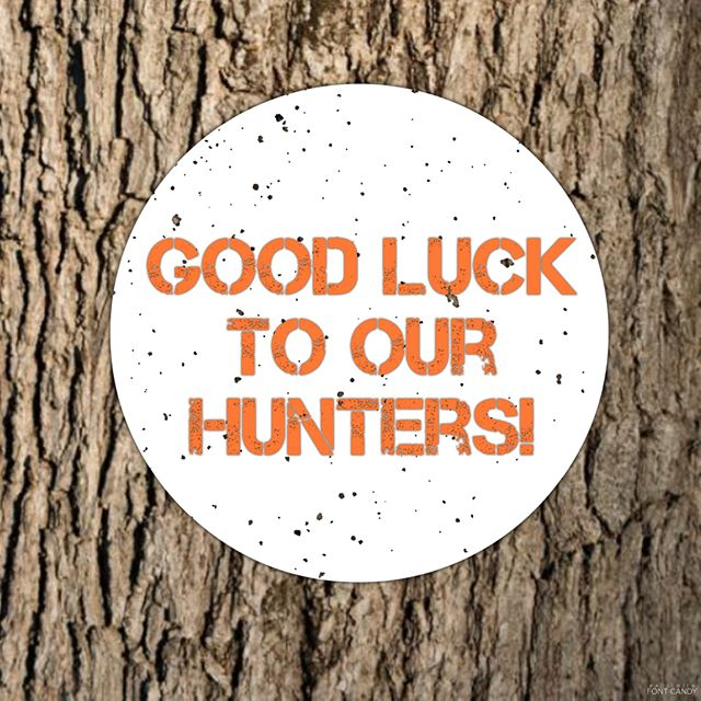 Be safe and bring home the venison! #orangefriday #oshkoshchiro #showmeyourbucks