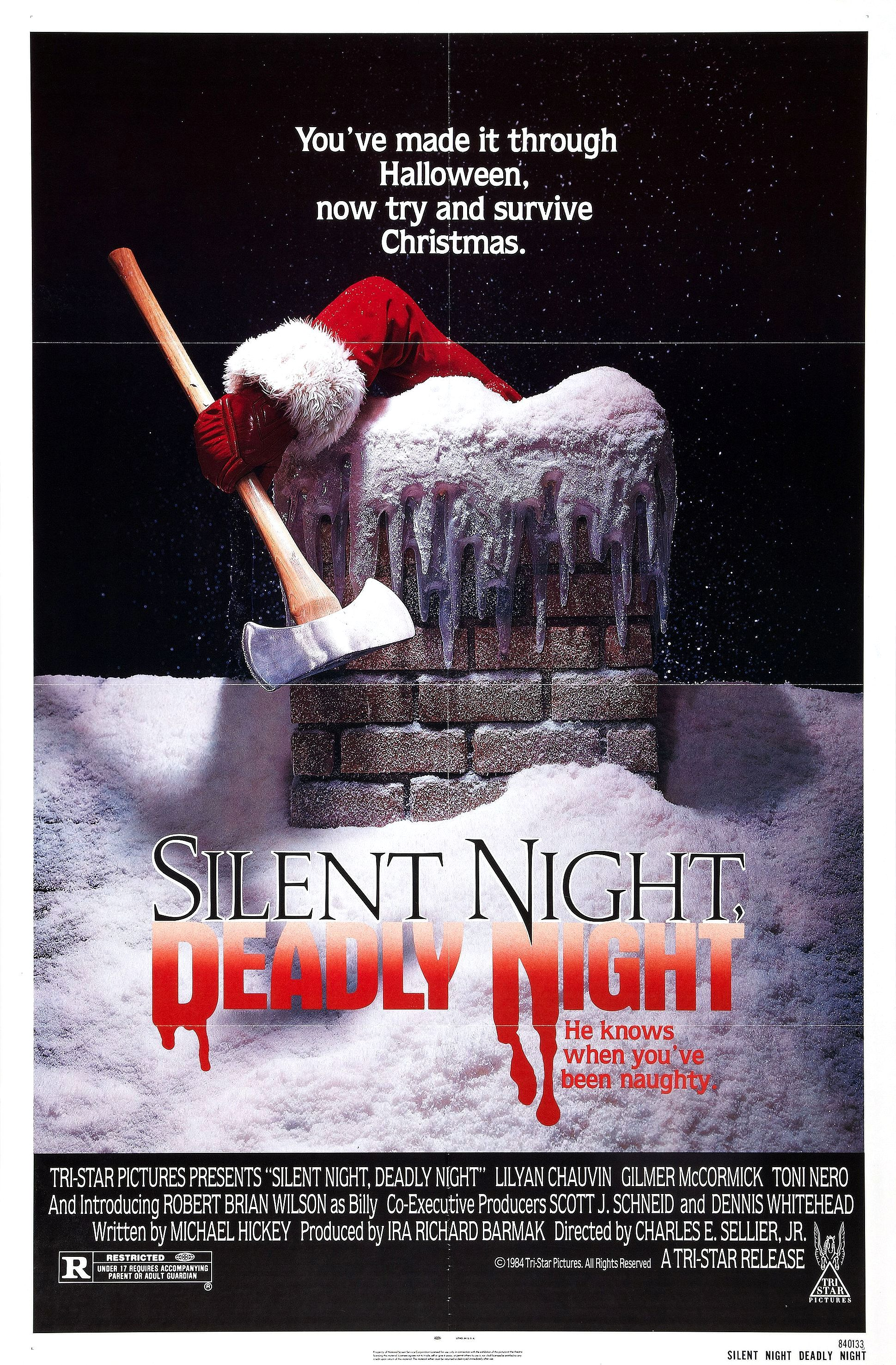 15. Silent Night, Deadly Night (1984) - A shinning holiday slasher that focuses on the story of our killer and not his victims. A dark origin story of a tortured boy that turns to a delightfully fun and inventive killer Santa. It's so good it almost makes us sad we can only watch it every Christmas.