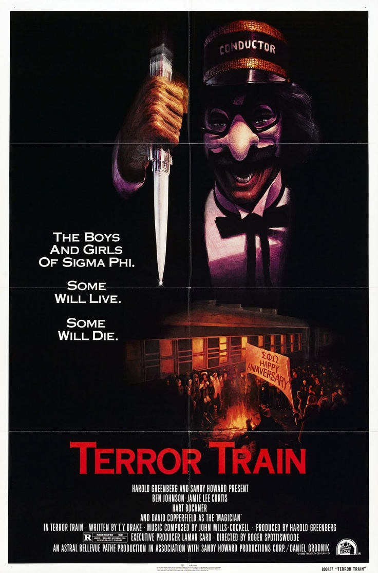 33. Terror Train (1980) - Staring ultimate Scream Queen Jamie Lee Curtis, Terror Train is a post Halloween slasher that is better at magic than slashing. David Copperfield's charismatic magic performances and the chance to see Curtis make it worth the watch. A killer with a poor motive and lazy kills makes it hard to thoroughly enjoy.
