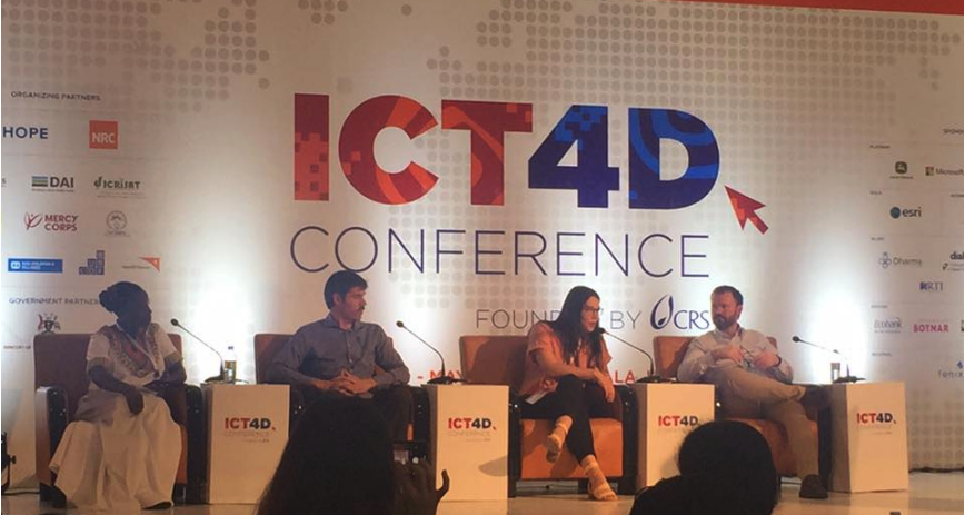 Image - Mel Sleap at ICT4D 2019 in Uganda, presenting the DEEP solution on the Safeguarding plenary panel.