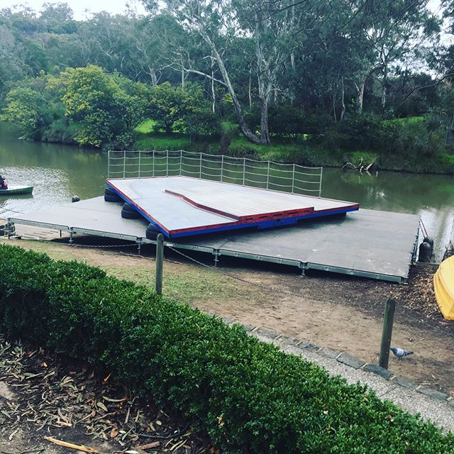 Installation completed on location for a local comedy show. #kewboathouse #locationshoot #comedytvshow #abctv #getkrackin