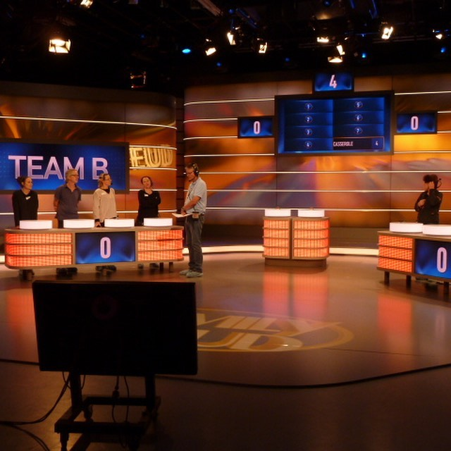 Family Feud set we built here in our workshop in Melbourne, Transported and installed at the Channel 10 Studio in Sydney. Huge effort from the team!