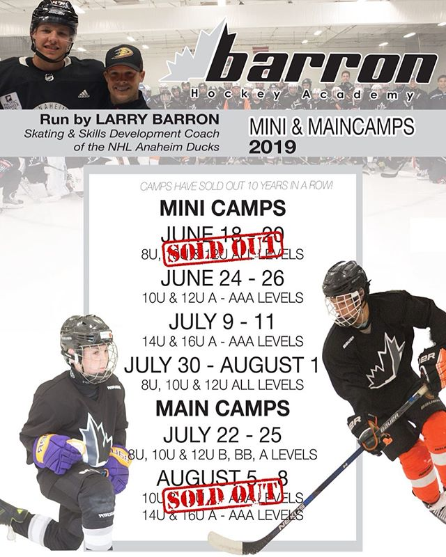 Looking forward to round two this week! barronhockey.ezregister.com #barronhockey #hockeycamp