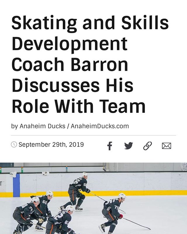 Listen here: https://www.nhl.com/ducks/news/skating-and-skills-development-coach-Barron-discusses-his-role-with-team/c-309577456