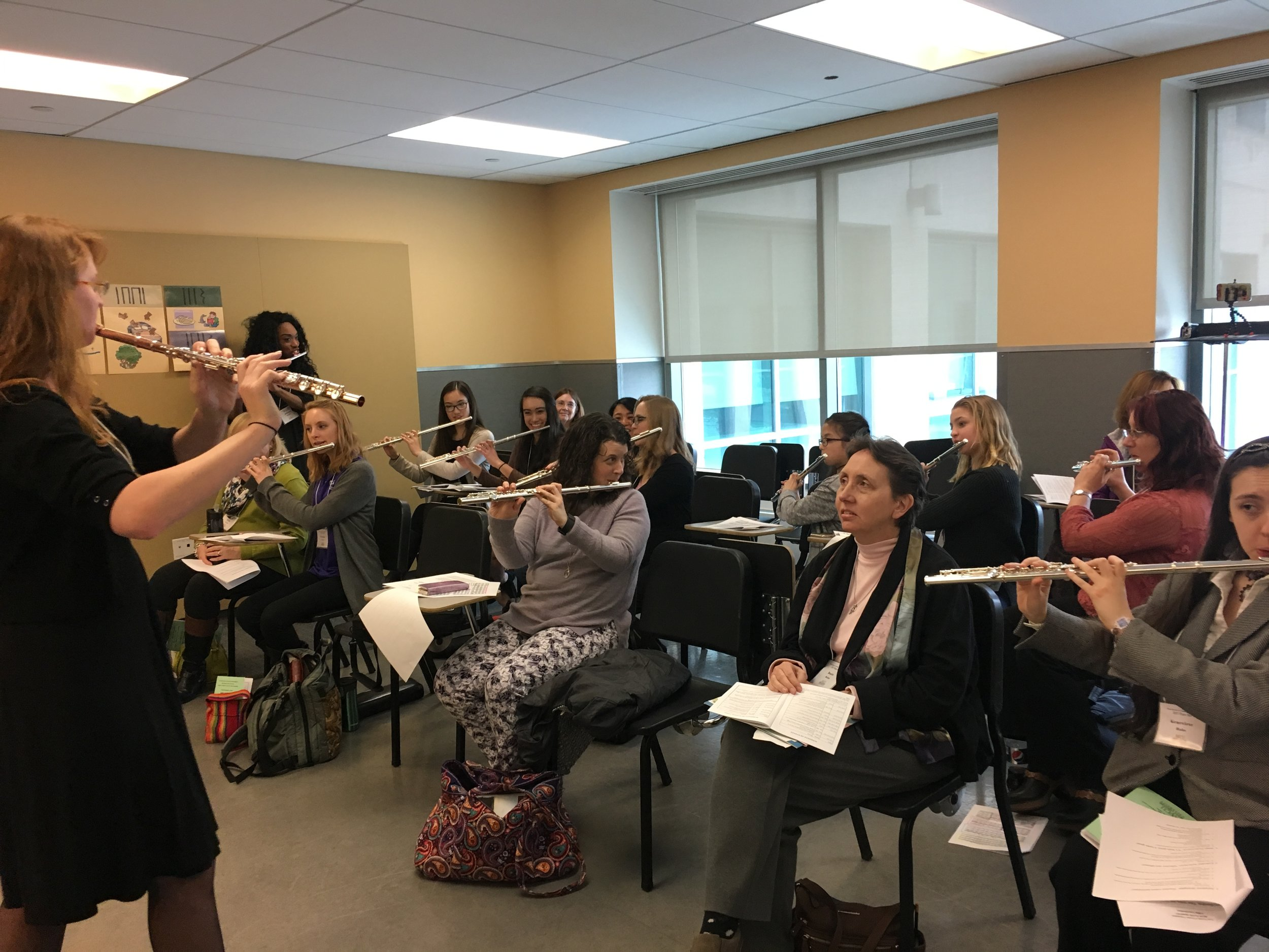 4-Way Coordination workshop at the 2019 Flute Society of Greater Philadelphia Flute Day