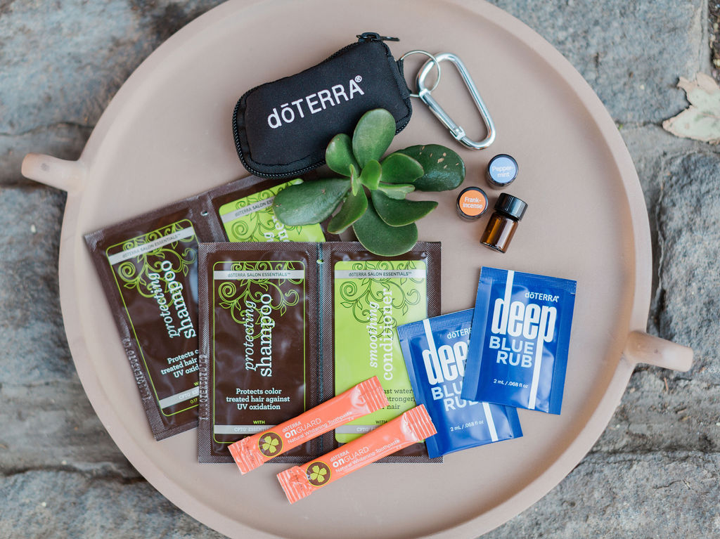 + Get Extra Bonuses! - This sweet Essentials Oils On-The-Go Keychain ensures you can take your oils with you anywhere! Plus you'll receive a Low Tox Lifestyle Sampler Pack, so you can try out some of my favorite green cleaning hair products, all natural toothpaste and Deep Blue Rub for pain free support au naturale!