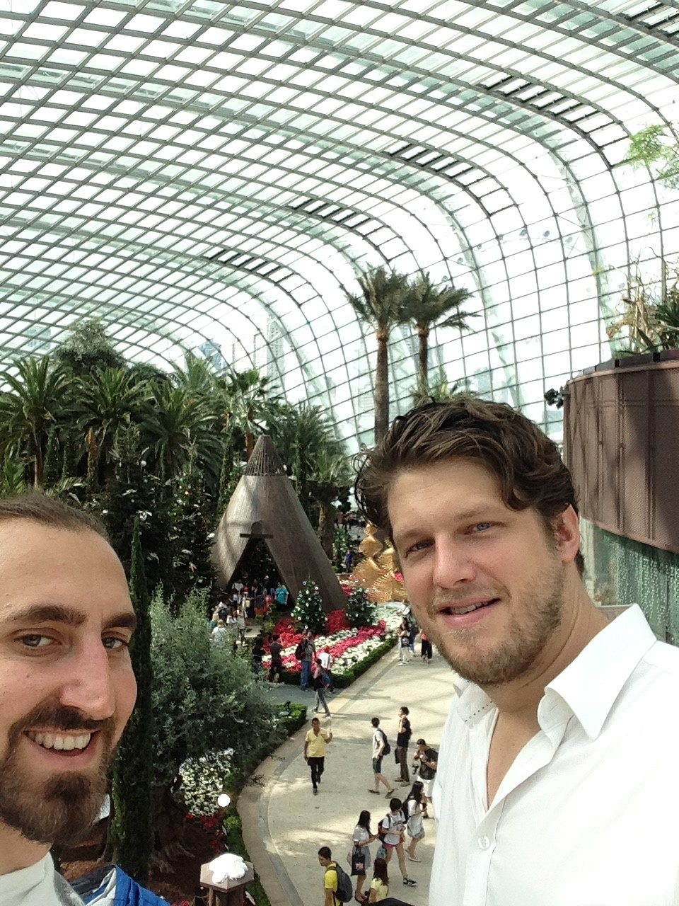 Energy Conservation engineers Max Brownstein and Jens Mozer enjoying the sights of Singapore