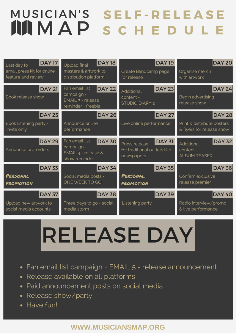 Musician's Map self-release schedule page 2