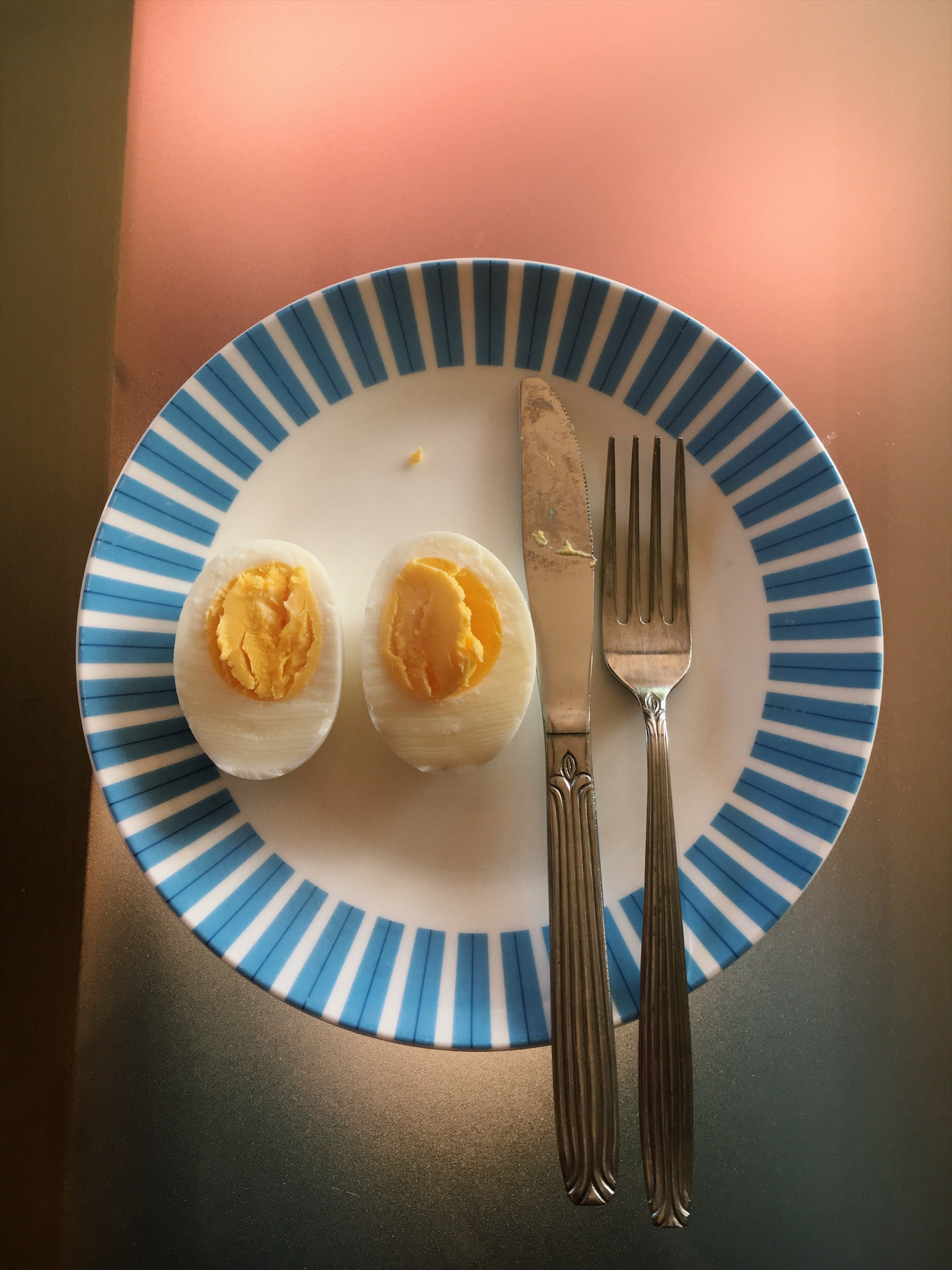 The best Saturday: eating an egg.