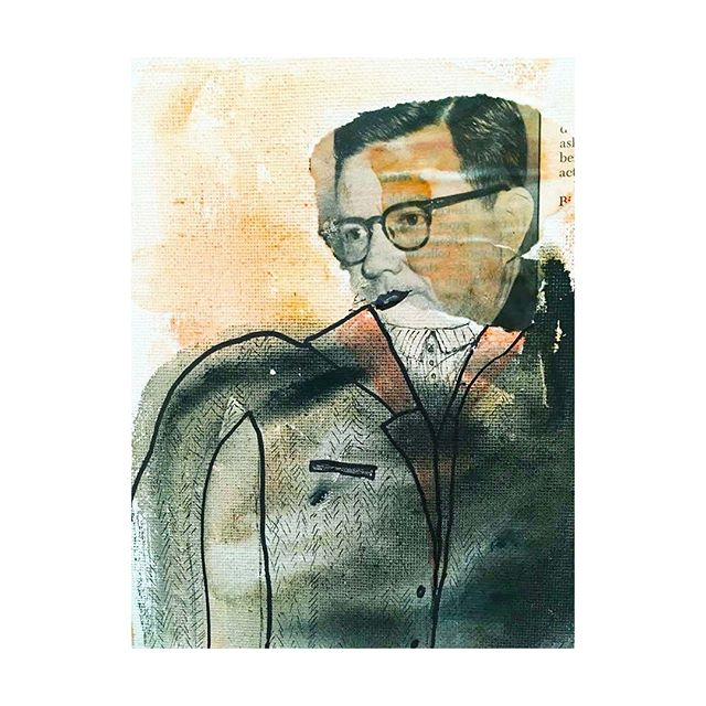 Clarence Questions  _ Newsprint [ @unnecessaryobservations ]             #art #print #graphicdesign #drawing #minimalism #process #sketch #newspaper #artwork #prints #news #blackandwhite #pattern #screenprinting #screenprint #studio #artistproof #typography #practiceprint #printmaking #pencil #workinprogress #oilpastel #artinprogress #d1astudio #magazine #printing #pragency #roadsign #newwork