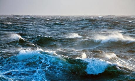 As an oceanographer at sea you are surrounded by your discipline. It transports you, chucks spray in your face and generally rocks your world. Photograph: Alamy