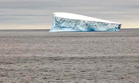 Our first proper iceberg, serene on the very calm ocean. Photograph: Helen Czerski