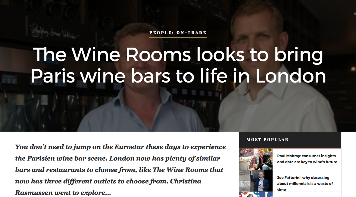 Speaking to Thor Gudmundsson and Richard Okroj about the Wine Rooms