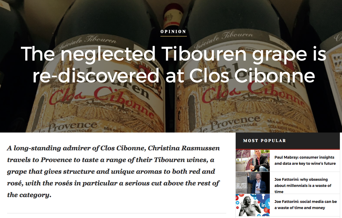 Clos Cibonne + the Tibouren grape