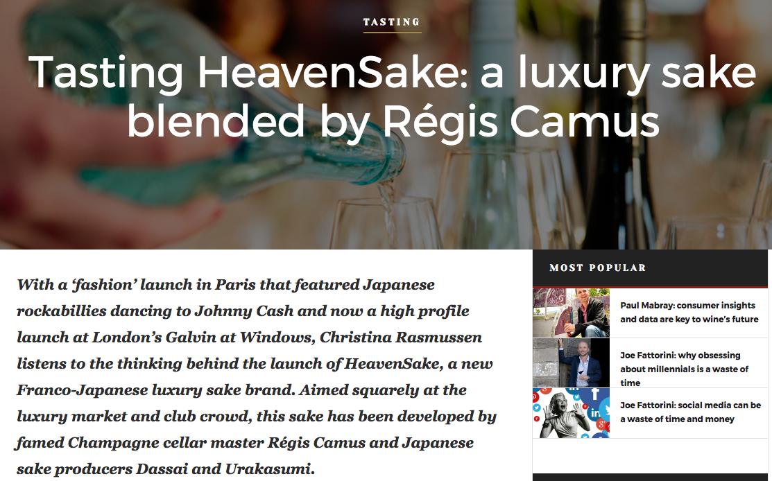 Sake meets Champagne