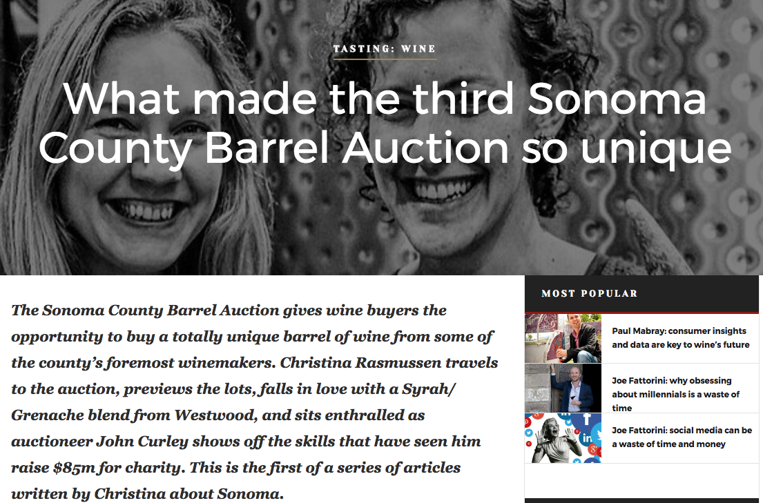The Sonoma County Barrel Auction 2017