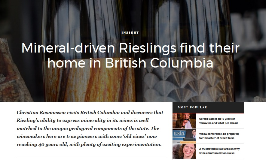 Riesling in British Columbia