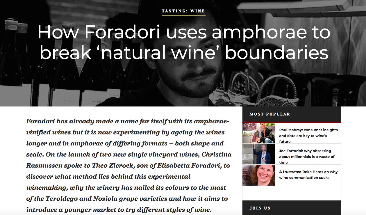 Foradori's amphorae