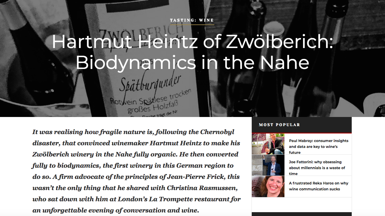 Meeting Hartmut Heintz