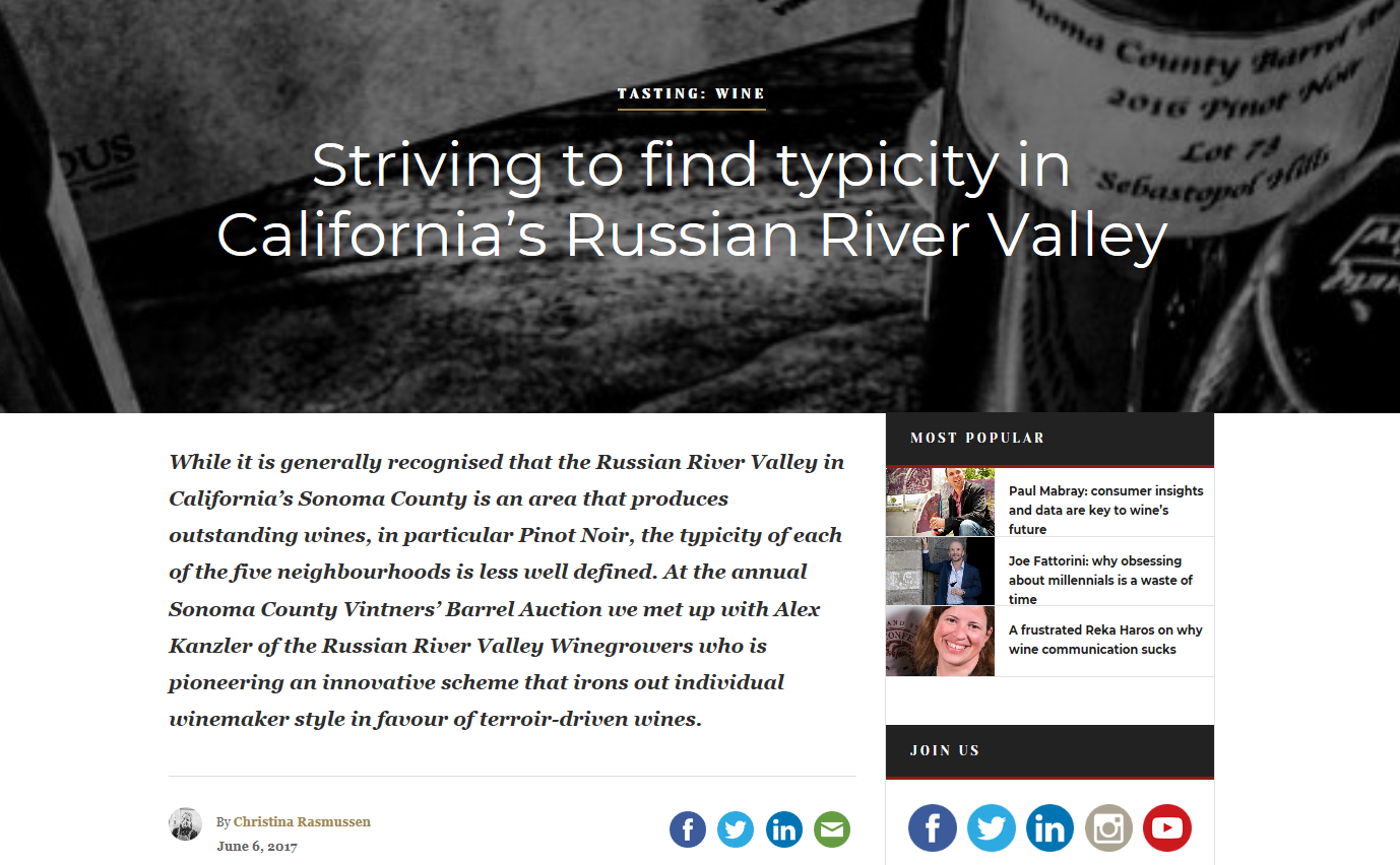 Subdividing the Russian River Valley
