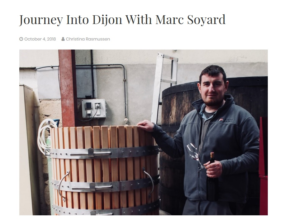 In Dijon vineyards with Marc Soyard