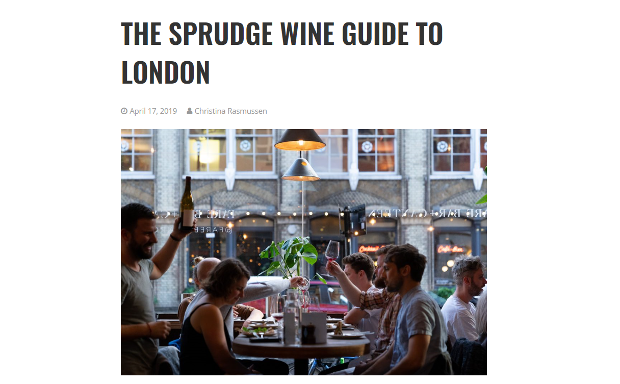 London Wine Guide