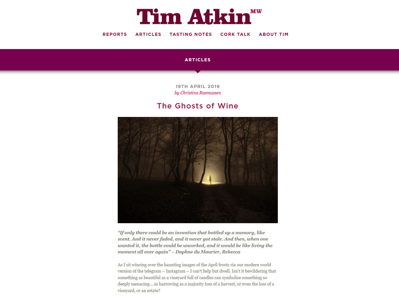 The Ghosts of Wine