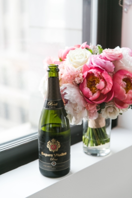 My Wedding Day-ft bouquet - Here's a photo from my wedding day-ft. my bouquet + some champs. Wasn't really sure what else to accompany this post with. You're welcome.*hugs*