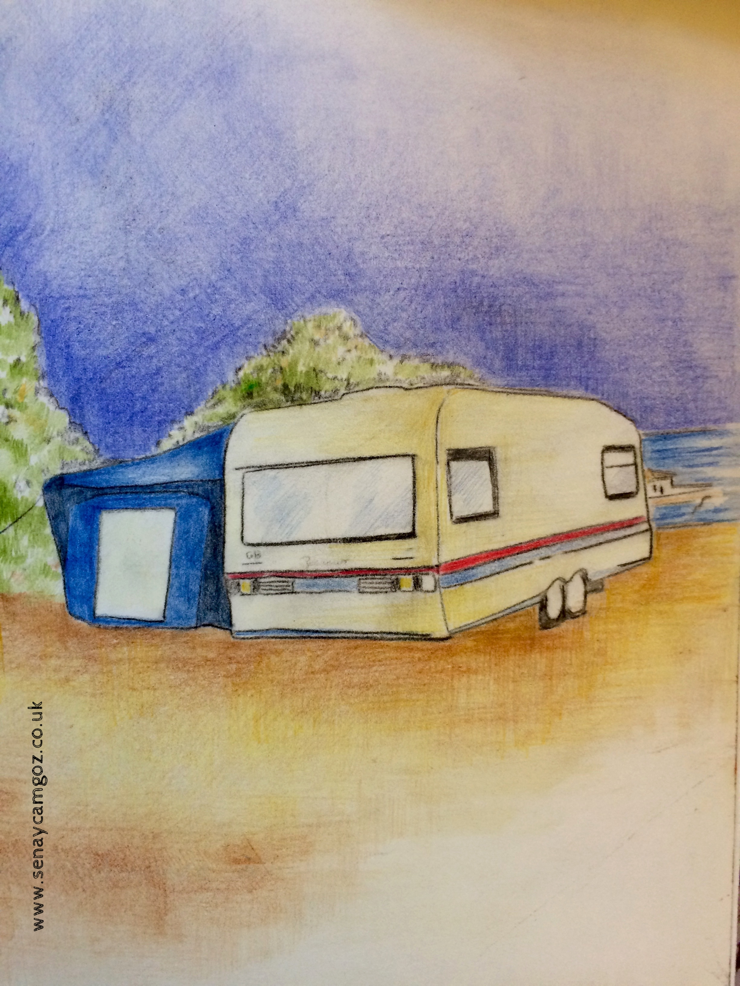- CaravanPolychromo pencils on paper