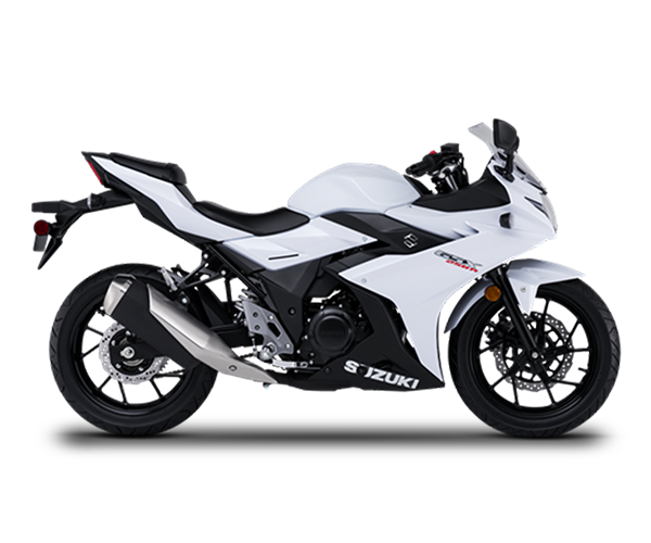 GSX-R 250 2018 - · Engine: 250cc· Liquid Cooled· Fuel Injection· 6-Speed Transmission· Colors: White or BlackRequest Parts>Request Service>