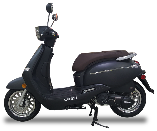 VR3 - · Engine: 150cc· Air-Cooled· LED Front Lights· LED Tail Lights· Lightweight· Colors: Red, White & GreyRequest Parts>Request Service>